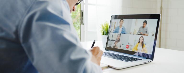 Digitaler Einkauf Webkonferenz mit Einkäufern